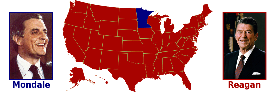 Image result for 1984 presidential election